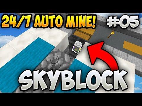 24/7 AUTO MINING COBBLESTONE GENERATOR *NEW* - Minecraft Skyblock Ep. 5 (SkyMetro)