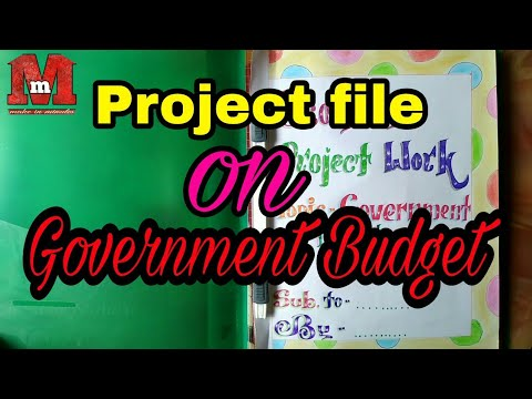 Economics Class 12 CBSE project on Government Budget & its components