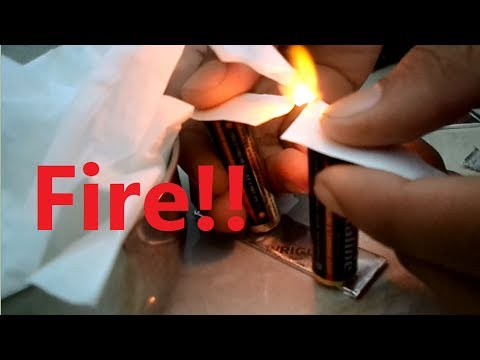How To Make a Fire with Battery and Gum Paper