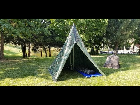 Hot Tent Teepee for Ammo Can Stove