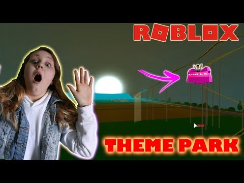 BUILDING A ROLLER COASTER IN THE DARK FAIL!! Theme Park Tycoon 2 Roblox with Ruby Rube