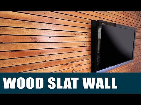 Making A Wood Slat Feature Wall