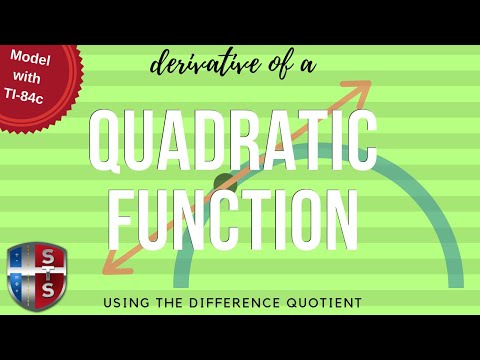 Calculus - Difference Quotient - Quadratic Equation