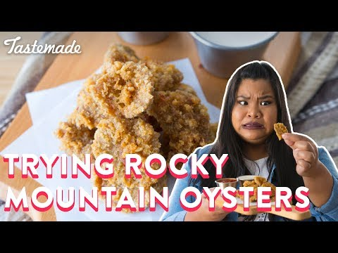 Trying Rocky Mountain Oysters | Good Times With Jen