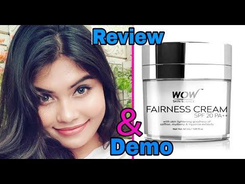 WOW Fairness Creme | Review + Live Demo | Best fairness cream in India | Ishita Chanda