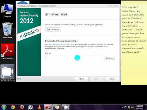 Kaspersky Internet Security 2012 License Key Download Free Till 2013 June