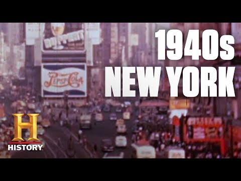 A Tour of 1940s New York City | Flashback | History