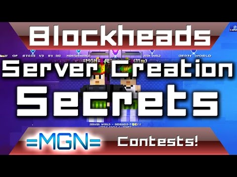 Blockheads 1.6 - How to make an EPIC popular server!