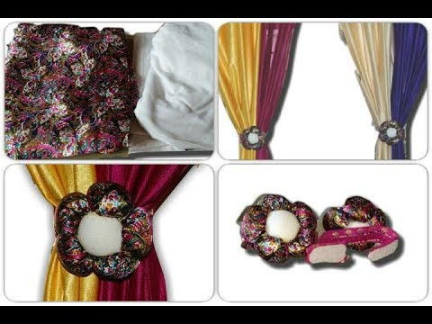 3d flower Curtain tie back for beginners using old clothes