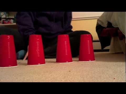 Cup Song with ONE person and 4 cups!!!!