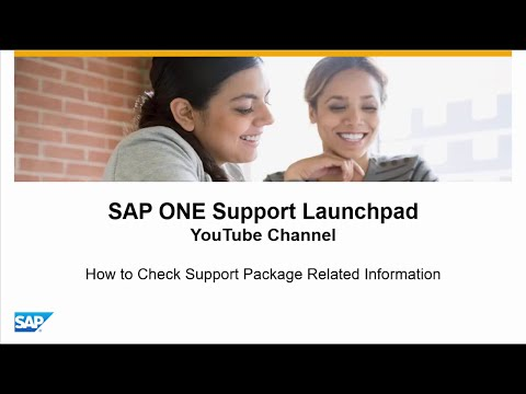 How to Check Support Package Related Information- SAP ONE Support Launchpad