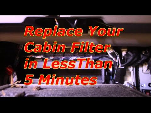 How to replace the cabin filter 2002-2009 Toyota Camry