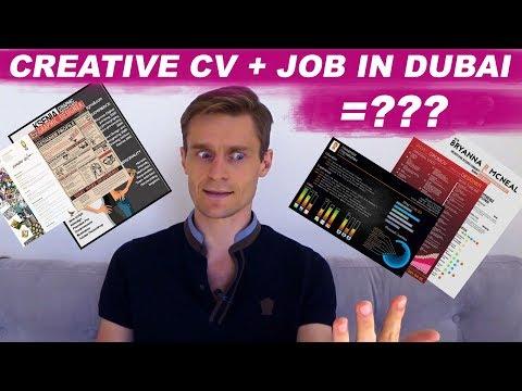 Job in Dubai and UAE: Will a creative СV help get a job in Dubai?