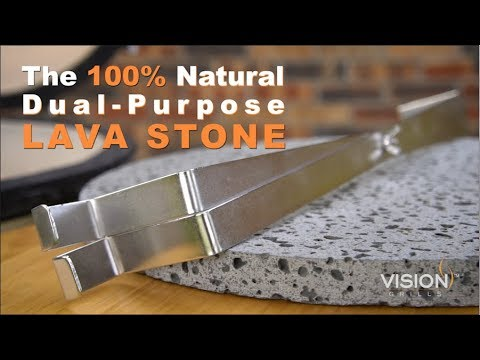Dual-Purpose Lava Cooking Stone and Heat Deflector | Vision Grills