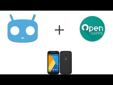 05 - Install / Flash Cyanogenmod 12.1 to Moto E2 2015 - TWRP Recovery & OpenGApps