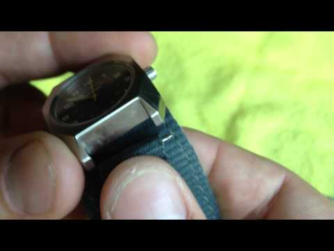 HOW TO:  Remove strap on NIXON Scout watch