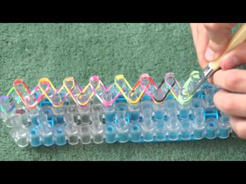 How to make a Fishtail Rainbow Loom bracelet - Easy Tutorial