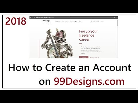 How to Create 99designs Account 2018