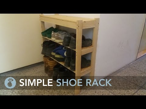 Making a Simple Shoe Rack // How to make // My Cellar Workshop