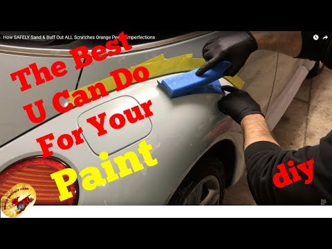 How To Repair Orange Peel and Paint Blemishes