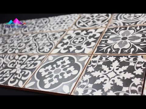 Quick Look: Faenza Rustic Grey Patterned  Matt Tile (443330) - Tile Mountain