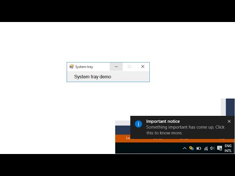 C# Tutorial - How to create a System tray Notification | FoxLearn