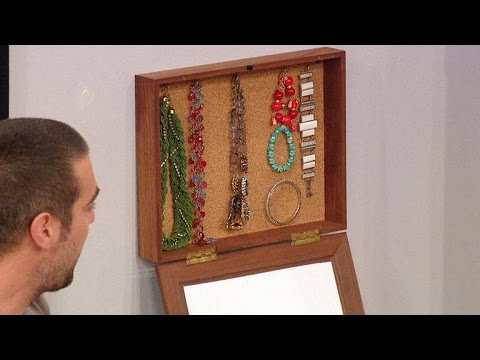 How to Easily Make Your Own Hanging Jewelry Box Picture Frame