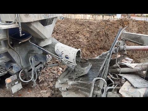 Amazing Construction - New Cement Mixer Truck - Concrete  Pump  Loaded !