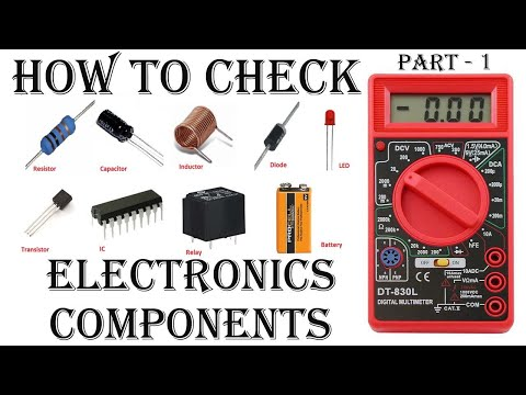How to Check electronics components with digital multimeter in hindi