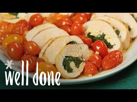 How To Make Spinach And Feta Stuffed Chicken | Healthy Dinner | Recipe | Well Done