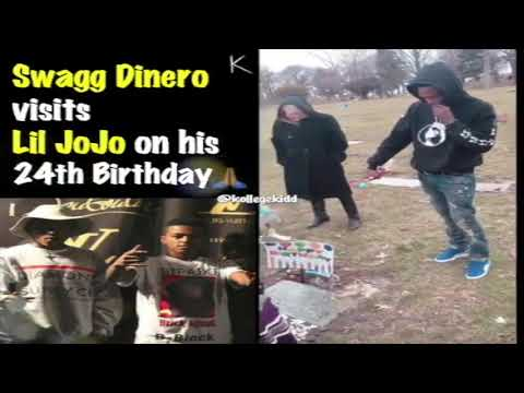 Swagg Dinero Pours Out A Bottle Of Hennessy For Lil JoJo On His 24th Birthday