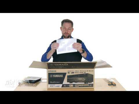 Unboxing: Yamaha 5.1 Channel Black Network A/V Receiver - RX-V481