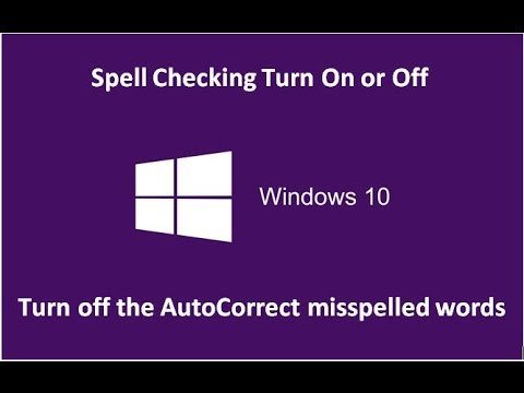 Spell Checking Turn On or Off in Windows 10 - Howtosolveit