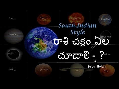 1.2 - Learn Astrology - రాశి చక్రం ఎలా చూడాలి ? (South Indian Format)