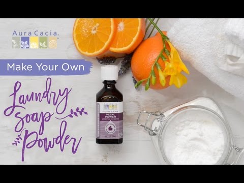 How to Make Homemade Laundry Soap Powder with Essential Oils