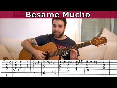 Fingerstyle Tutorial: Besame Mucho - Guitar Lesson w/ TAB