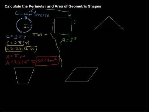 How to Calculate Perimeter and Area of Geometric Shapes - Algebra Tips