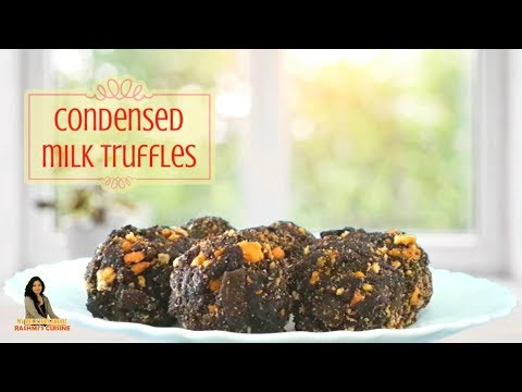 How to make Condensed Milk Truffles at Home  | Chocolate and Coconut Truffles Recipe