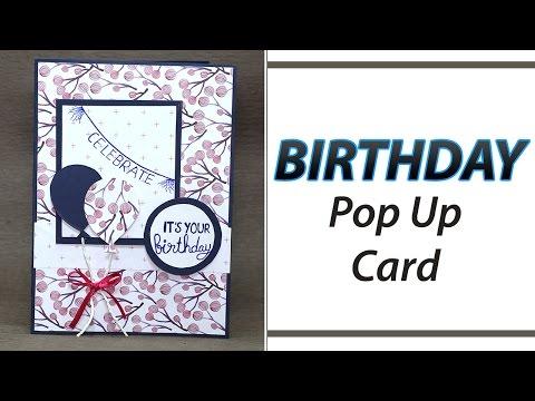 DIY Birthday Greeting Card - Learn how to make handmade birthday card by simple steps.