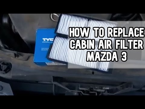 How to replace cabin air filters | Mazda 3 DIY video | #diy #filter