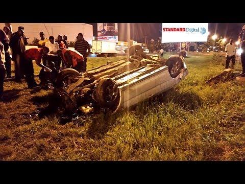 Man cheats death after horror crash along Mombasa Road