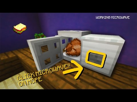Minecraft, MCPE | How to make a Working Microwave