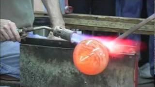 Making a glass Multi-Colored Vase at Kokomo Opalescent Glass!