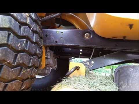 Cub Cadet LTX 1046 KW deck removal and blade sharpening