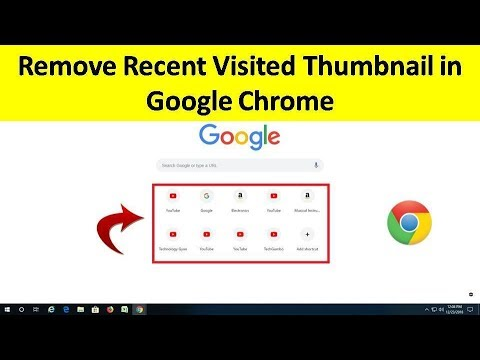 How to Remove Most Visited Thumbnail in Google Chrome in Hindi