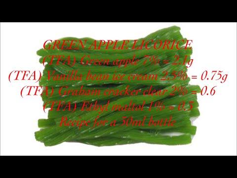 DIY E-JUICE / GREEN APPLE LICORICE