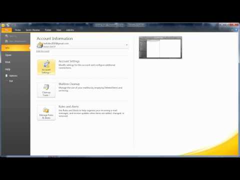 How to.. Speed Up Outlook 2010 when using GMail (IMAP)