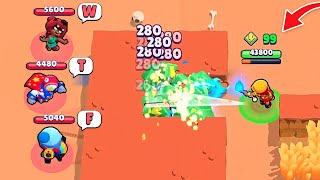 AMBER in HACKER MAP! 99 Power Cubes too OP! Brawl Stars Funny Moments & Fails ep.283
