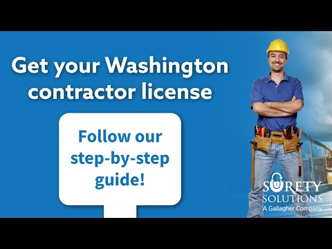 How to get a Washington Contractor License