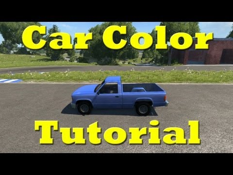 BeamNG DRIVE How To Change Car Color Tutorial - 1080p HD